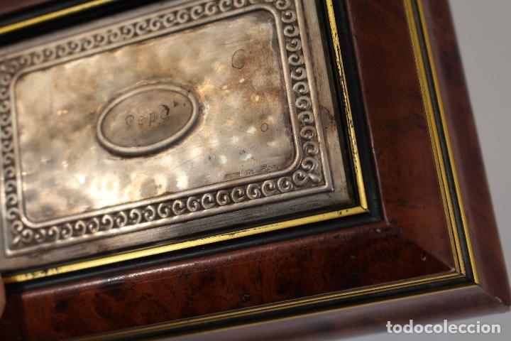 Antigüedades: caja joyero en plata de ley 925milesimas - Foto 3 - 174207517