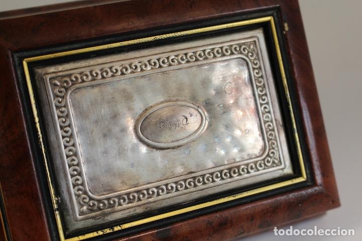 Antigüedades: caja joyero en plata de ley 925milesimas - Foto 5 - 174207517