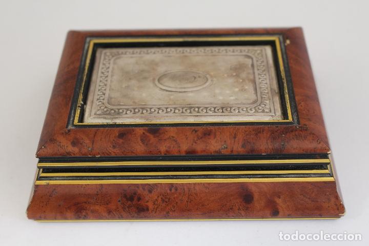 Antigüedades: caja joyero en plata de ley 925milesimas - Foto 6 - 174207517