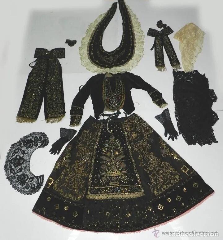 EXCEPCIONAL TRAJE TRADICIONAL CHARRO SALMANTINO, SALAMANCA, SIGLO XIX, AUTENTICA PIEZA DE MUSEO, LE (Antigüedades - Moda y Complementos - Mujer)