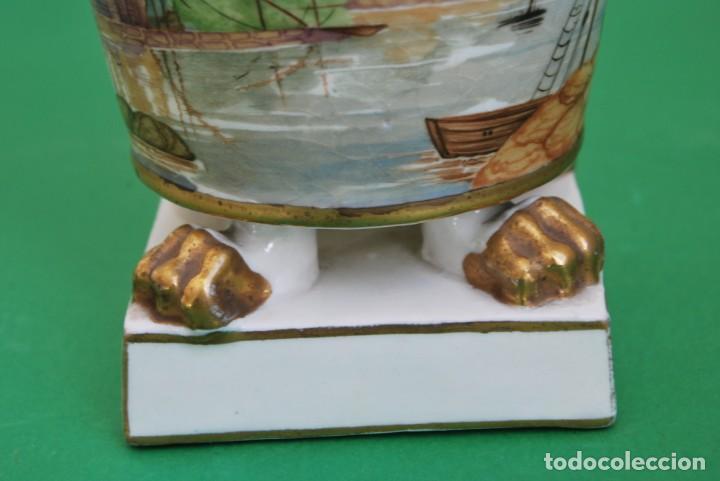 Antigüedades: EXCELENTE TIBOR DE PORCELANA - SIGLO XVIII - PATAS DE GARRA - ASAS CABEZA NIÑO - MARCA EN BASE - Foto 6 - 166094738