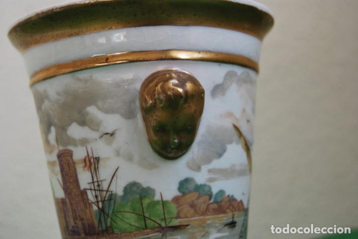 Antigüedades: EXCELENTE TIBOR DE PORCELANA - SIGLO XVIII - PATAS DE GARRA - ASAS CABEZA NIÑO - MARCA EN BASE - Foto 9 - 166094738
