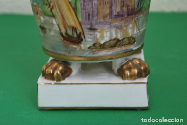 Antigüedades: EXCELENTE TIBOR DE PORCELANA - SIGLO XVIII - PATAS DE GARRA - ASAS CABEZA NIÑO - MARCA EN BASE - Foto 11 - 166094738