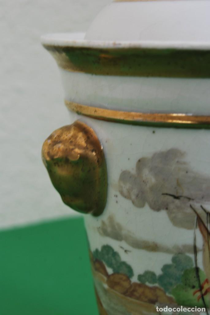Antigüedades: EXCELENTE TIBOR DE PORCELANA - SIGLO XVIII - PATAS DE GARRA - ASAS CABEZA NIÑO - MARCA EN BASE - Foto 15 - 166094738