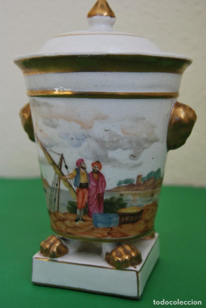 Antigüedades: EXCELENTE TIBOR DE PORCELANA - SIGLO XVIII - PATAS DE GARRA - ASAS CABEZA NIÑO - MARCA EN BASE - Foto 23 - 166094738