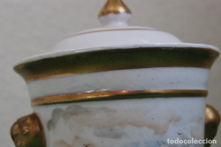 Antigüedades: EXCELENTE TIBOR DE PORCELANA - SIGLO XVIII - PATAS DE GARRA - ASAS CABEZA NIÑO - MARCA EN BASE - Foto 24 - 166094738