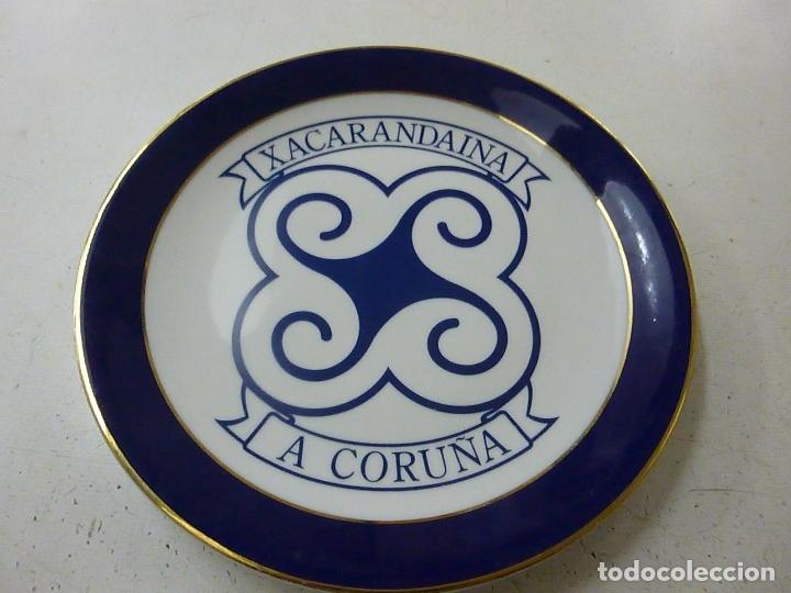 ANTIGUO PLATO XACARANDAINA A CORUÑA -24 CENTIMETROS -CALHER - N (Antigüedades - Porcelanas y Cerámicas - Otras)