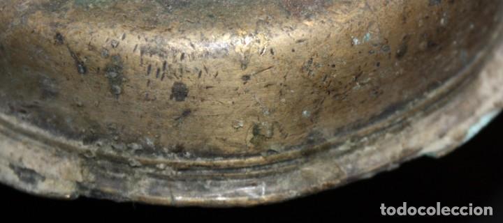 Antigüedades: CANDELERO DE SOBREMESA EN BRONCE DEL SIGLO XVIII - Foto 6 - 166119502