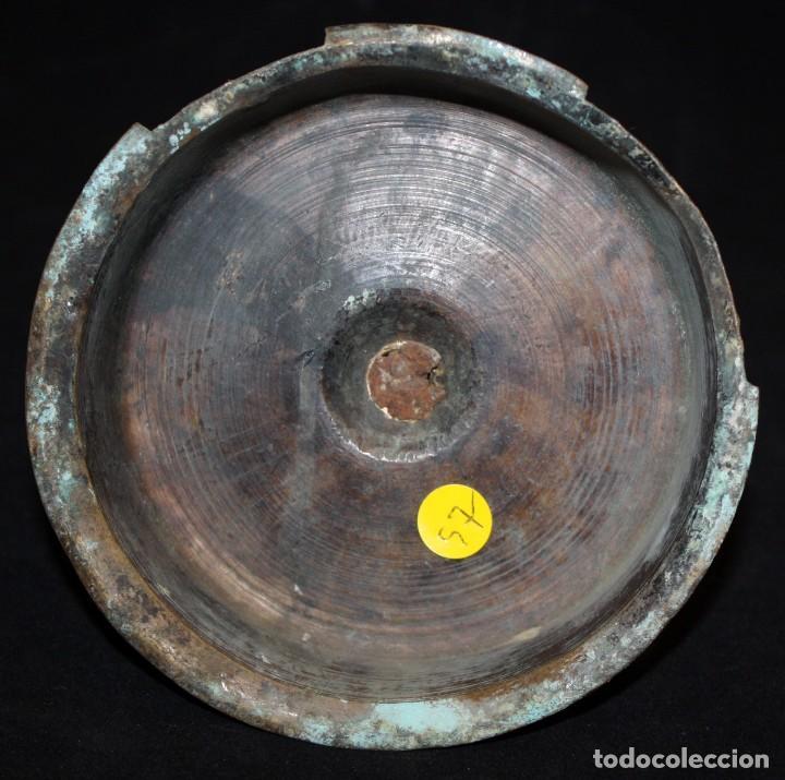 Antigüedades: CANDELERO DE SOBREMESA EN BRONCE DEL SIGLO XVIII - Foto 8 - 166119502
