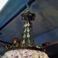 Antigüedades: LAMPARA DE TECHO-MURANO-. Lote 166095326