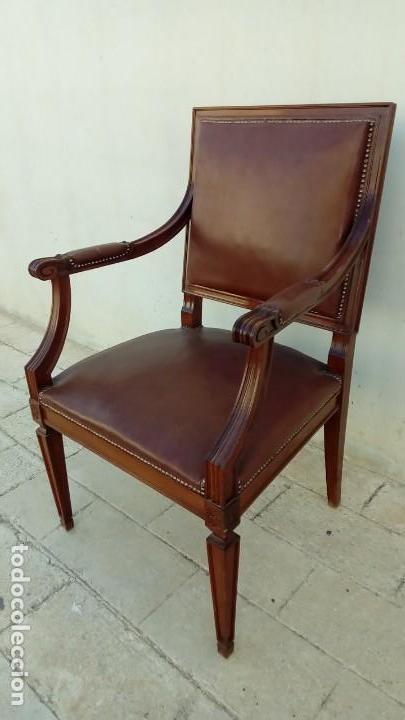 Antigüedades: sillon de despacho- - Foto 2 - 166118246