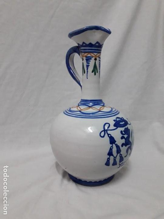 Antigüedades: Antiguo bello jarrón cerámica Puente del Arzobispo Yuste - Foto 4 - 166123662