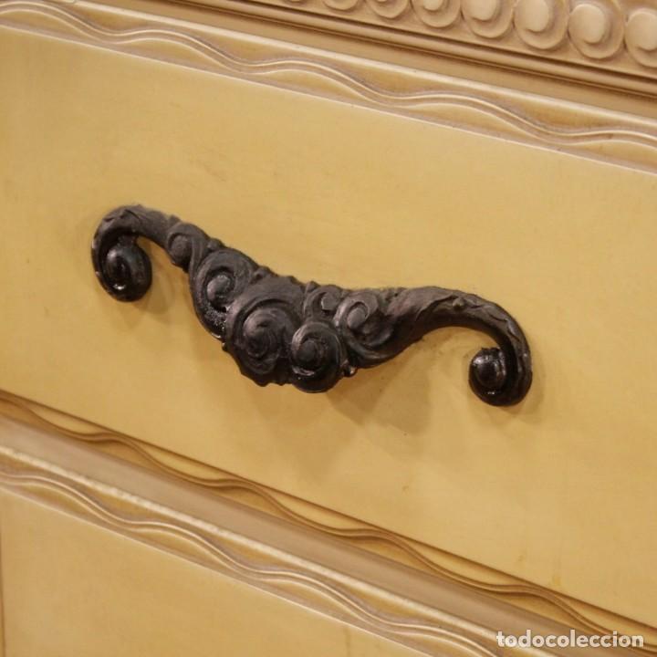 Antigüedades: Cómoda italiana con espejo en madera lacada - Foto 4 - 166135054