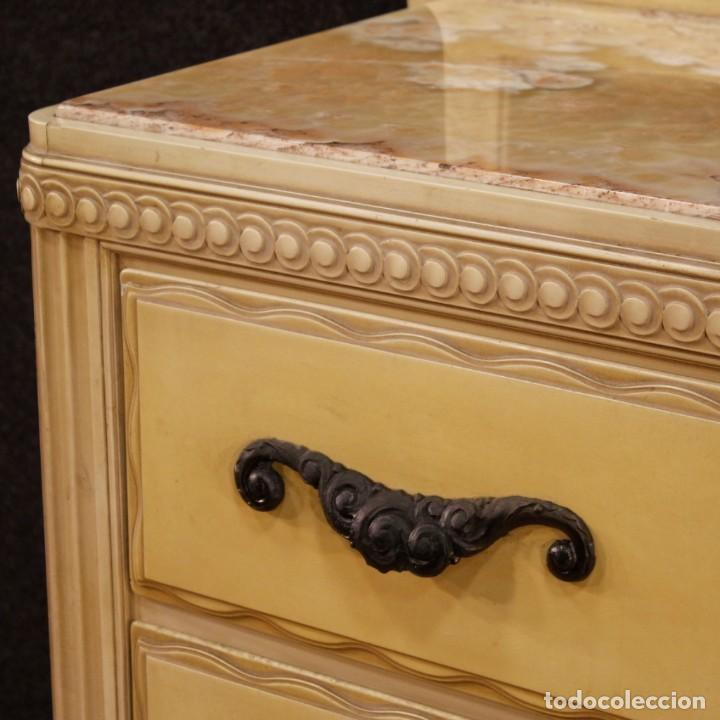 Antigüedades: Cómoda italiana con espejo en madera lacada - Foto 5 - 166135054