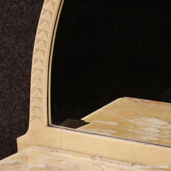 Antigüedades: Cómoda italiana con espejo en madera lacada - Foto 6 - 166135054