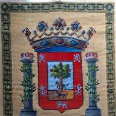 Antigüedades: REPOSTERO TAPIZ TAPICES ELECCIÓN VIZCAYA (80X68CM). Lote 166141214