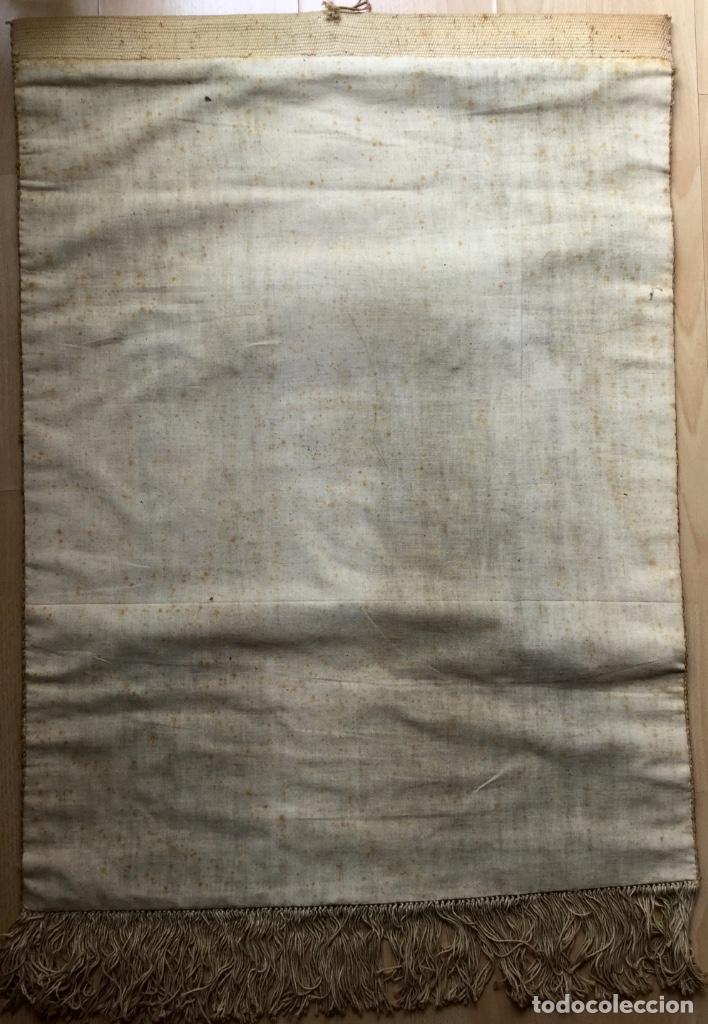 Antigüedades: REPOSTERO TAPIZ TAPICES ELECCIÓN VIZCAYA (80x68cm) - Foto 3 - 166141214