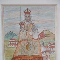 Antigüedades: NOSTRE SENYORA DEL TURA, PATRONA DELS OLOTINS - VIRGEN - RETABLO, PLAFÓN DE AZULEJOS - R. RIVAS. Lote 166150662