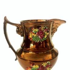 Antigüedades: JARRA DE PICO DE REFLEJOS - BRISTOL - S. XIX. Lote 166151930