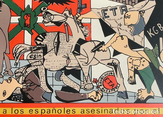AZULEJO - HOMENAJE A LOS ESPAÑOLES ASESINADOS POR EL TERRORISMO - GUERNICA - PIEZA ENMARCADA (Antigüedades - Porcelanas y Cerámicas - Otras)