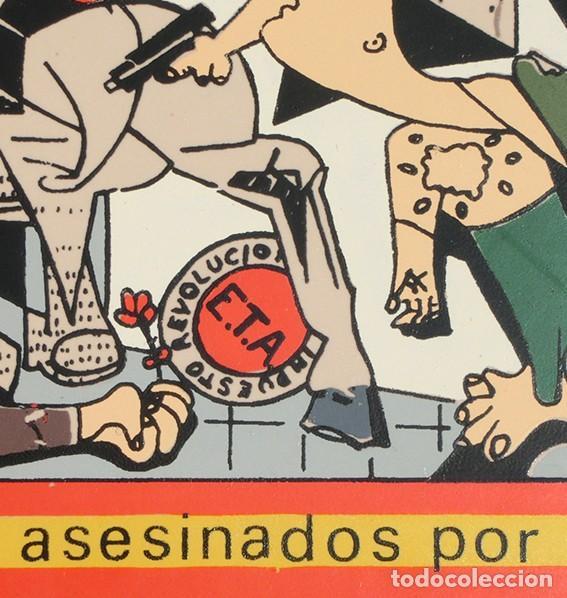 Antigüedades: AZULEJO - HOMENAJE A LOS ESPAÑOLES ASESINADOS POR EL TERRORISMO - GUERNICA - PIEZA ENMARCADA - Foto 3 - 166162722