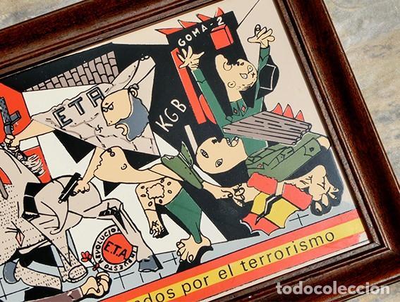 Antigüedades: AZULEJO - HOMENAJE A LOS ESPAÑOLES ASESINADOS POR EL TERRORISMO - GUERNICA - PIEZA ENMARCADA - Foto 7 - 166162722
