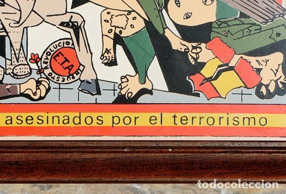 Antigüedades: AZULEJO - HOMENAJE A LOS ESPAÑOLES ASESINADOS POR EL TERRORISMO - GUERNICA - PIEZA ENMARCADA - Foto 12 - 166162722