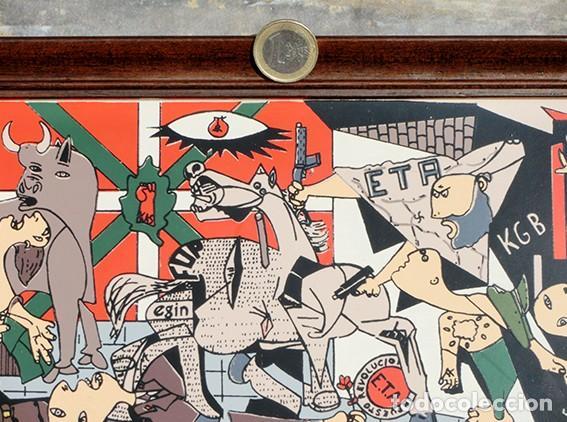 Antigüedades: AZULEJO - HOMENAJE A LOS ESPAÑOLES ASESINADOS POR EL TERRORISMO - GUERNICA - PIEZA ENMARCADA - Foto 13 - 166162722