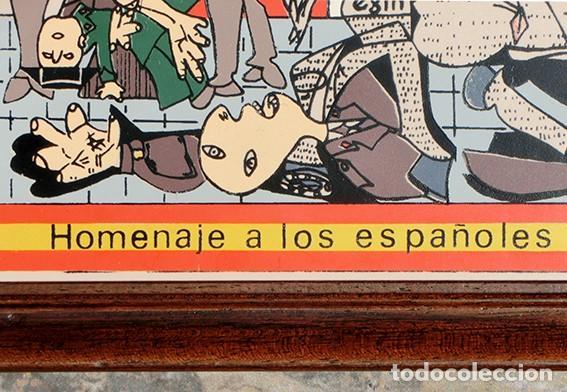Antigüedades: AZULEJO - HOMENAJE A LOS ESPAÑOLES ASESINADOS POR EL TERRORISMO - GUERNICA - PIEZA ENMARCADA - Foto 15 - 166162722