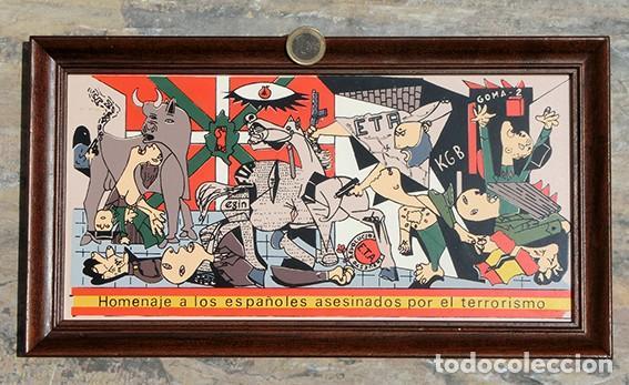Antigüedades: AZULEJO - HOMENAJE A LOS ESPAÑOLES ASESINADOS POR EL TERRORISMO - GUERNICA - PIEZA ENMARCADA - Foto 16 - 166162722