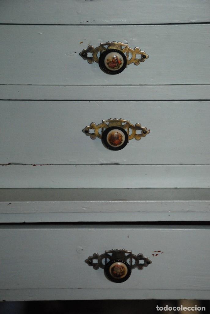 Antigüedades: MUY BONITO MUEBLE MODERNISTA PINTADO - Foto 15 - 166188070