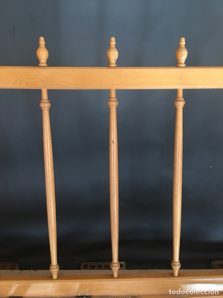 Antigüedades: Preciosa sofa madera para restaurar -(19158) - Foto 7 - 166207368