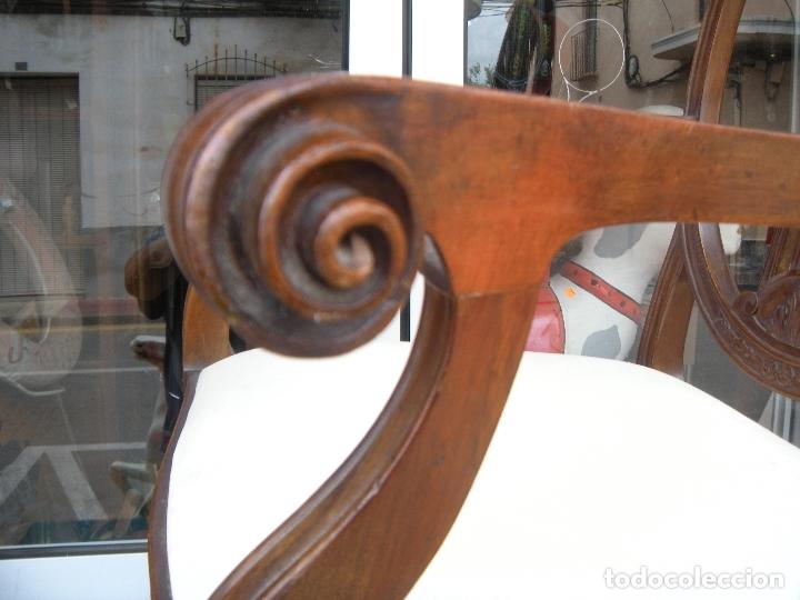 Antigüedades: SILLÓN DE CAOBA - Foto 2 - 166220538