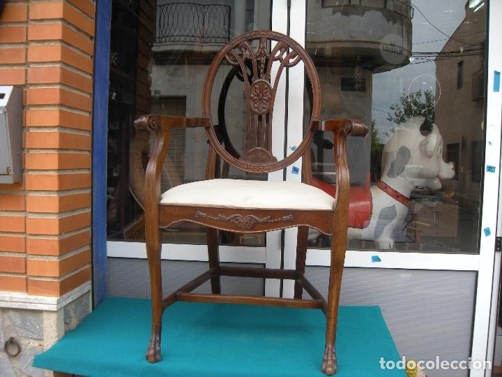 Antigüedades: SILLÓN DE CAOBA - Foto 16 - 166220538