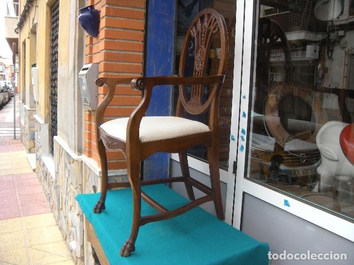 Antigüedades: SILLÓN DE CAOBA - Foto 17 - 166220538