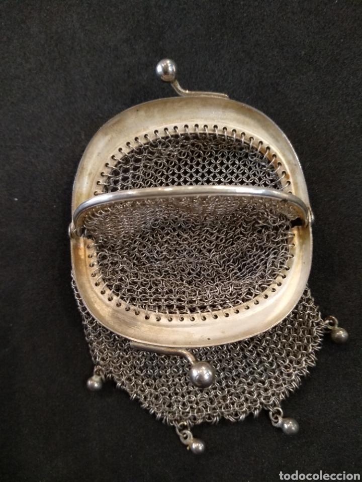 Antigüedades: Monedero de plata, contraste 800. - Foto 2 - 166256136
