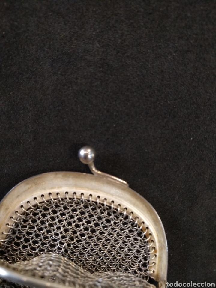 Antigüedades: Monedero de plata, contraste 800. - Foto 3 - 166256136