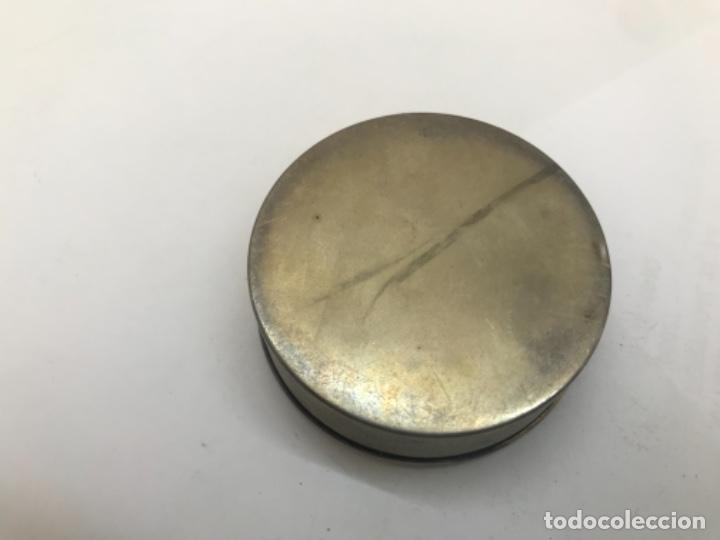 Antigüedades: Caja pastillero de plata con importante esmalte - Foto 3 - 166260830