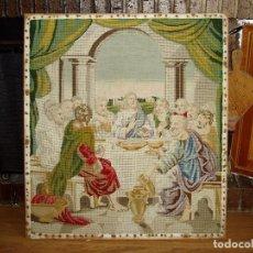 Antigüedades: TAPIZ ANTIGUO LA SAGRADA CENA. Lote 166261650