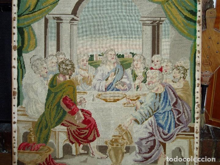 Antigüedades: Tapiz antiguo La Sagrada Cena - Foto 2 - 166261650