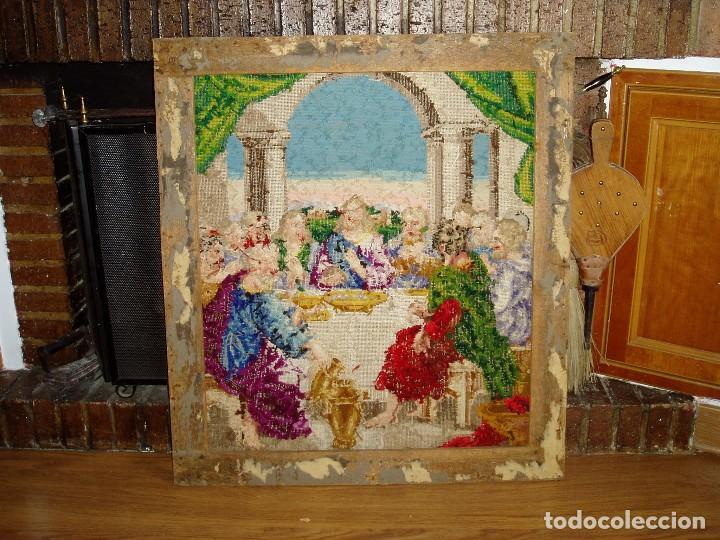 Antigüedades: Tapiz antiguo La Sagrada Cena - Foto 5 - 166261650