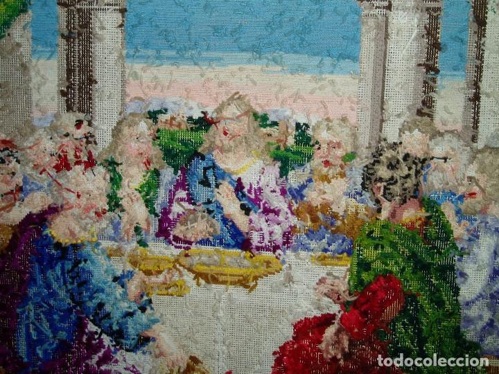 Antigüedades: Tapiz antiguo La Sagrada Cena - Foto 6 - 166261650