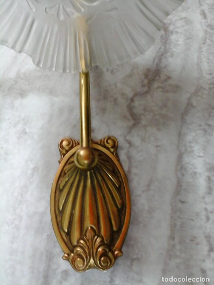 Antigüedades: aplique lámpara farol tulipa - Foto 4 - 166264246
