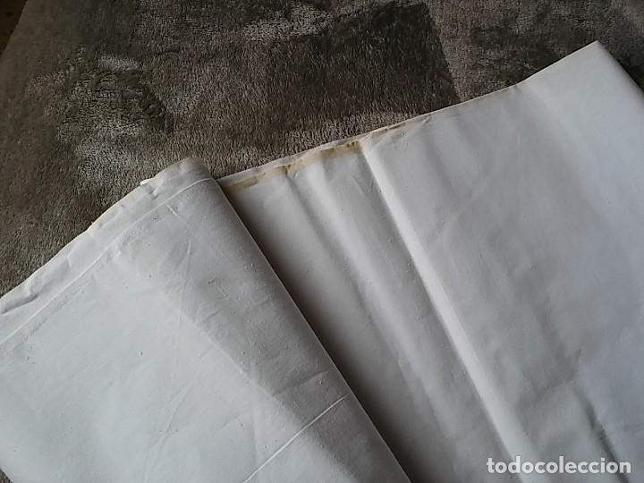 Antigüedades: Corte para sábana. Algodón de calidad Dalmases. (TLL1) - Foto 2 - 121748699