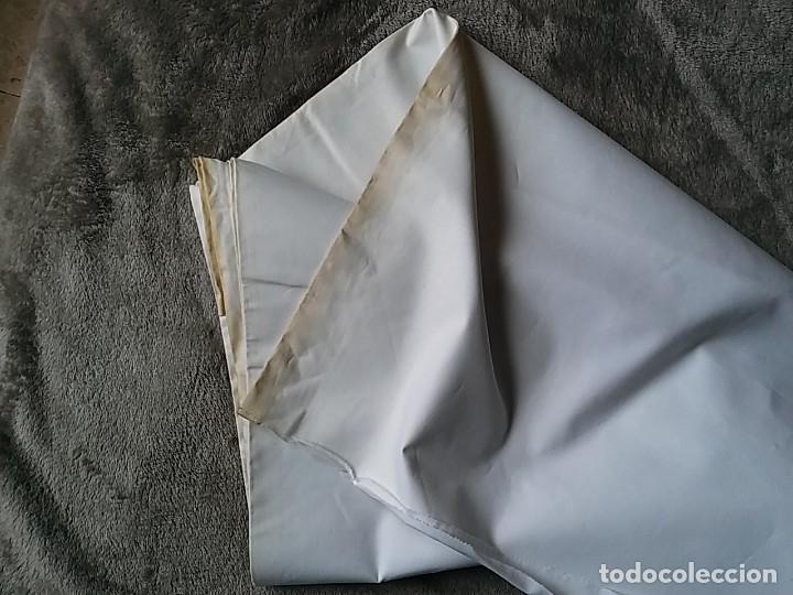 Antigüedades: Corte para sábana. Algodón de calidad Dalmases. (TLL3) - Foto 3 - 122197979