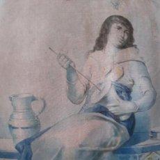 Antigüedades: INTERESANTE TAPIZ JEREZANO ESCENA ZAMBOMBÁ SIGLO XIX. Lote 166289026
