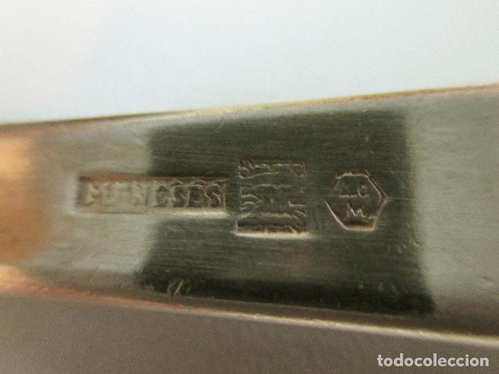 Antigüedades: MENESES. CUCHARA PUNZONADA. 21 CM. - Foto 2 - 166290214