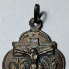 Antigüedades: ZARAGOZA. CALATORAO. MEDALLA EN PLATA 800MM.*RDO. DEL STO. CRISTO DE CALATORAO* MEDS: 25X19 MMS.. Lote 166307674
