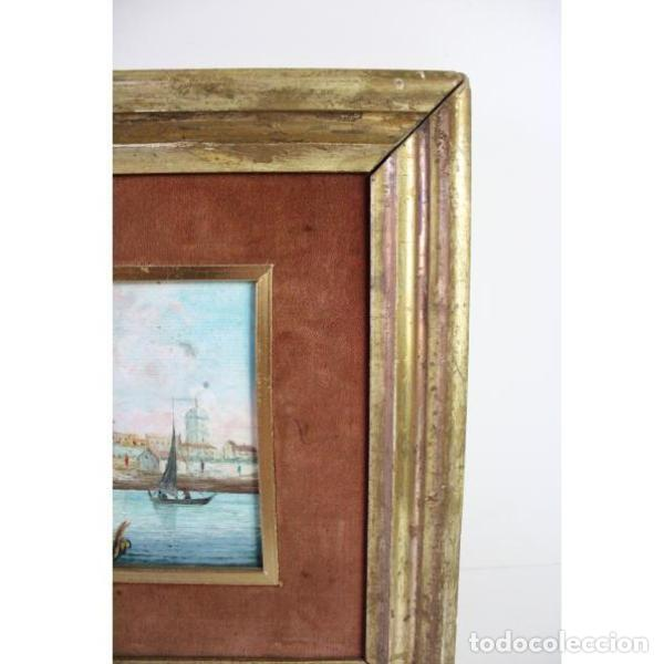 Antigüedades: Antiguo cuadro realizado con técnica de óleo sobre tabla - Foto 4 - 166310606