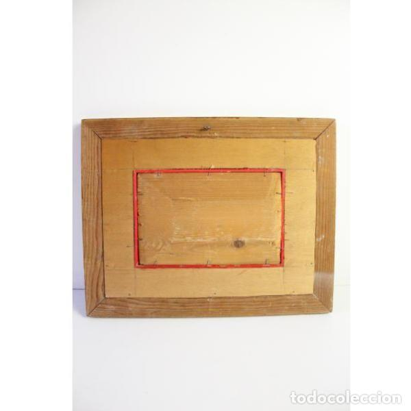 Antigüedades: Antiguo cuadro realizado con técnica de óleo sobre tabla - Foto 8 - 166310606